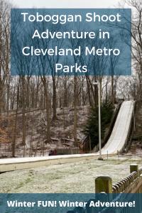 Toboggan chute in Cleveland Metro Parks